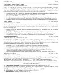 Financial Analysis Manager Cover Letter by Senior Operating And Finance Executive Resume