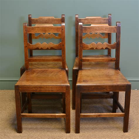 vintage kitchen chairs set of four country farmhouse georgian antique kitchen