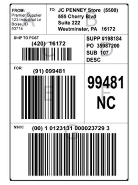 Gs1 128 Shipping Label Pallet Tag Template