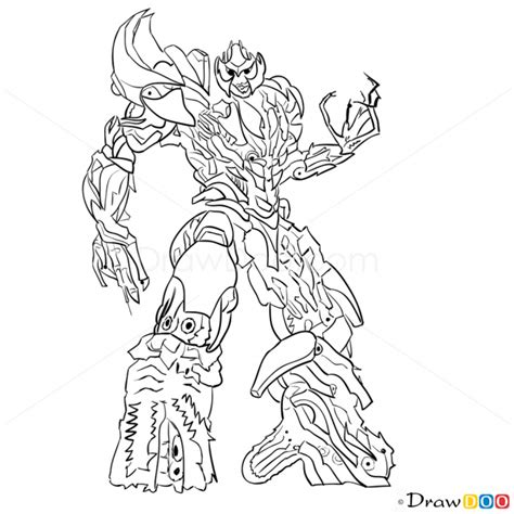 transformers coloring pages easy how to draw megatron transformers