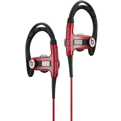 Headset Earphone Headphone Sport Beats By Drdre Md A109 power beats by dr dre sport in ear headphones black iwoot