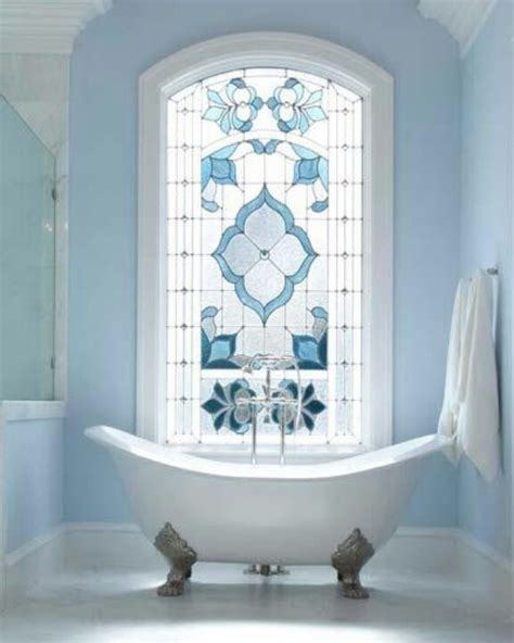 Bathroom Windows Stained Glass Remodel Your Blue Bathroom With New Accessories Messagenote