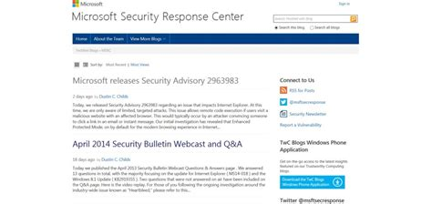 microsoft microsoft security advisory update for microsoft releases security advisory that impacts internet