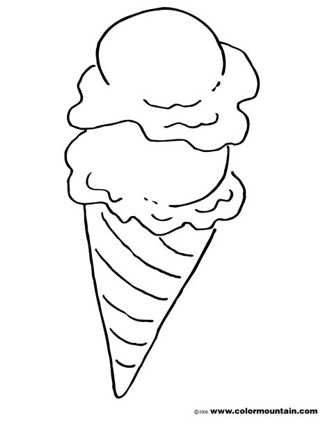 ice cream cone coloring page create a printout or activity