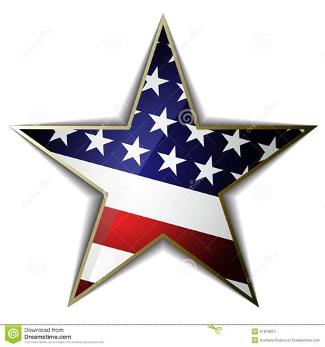 American Ster the american flag as shaped symbol vector eps10