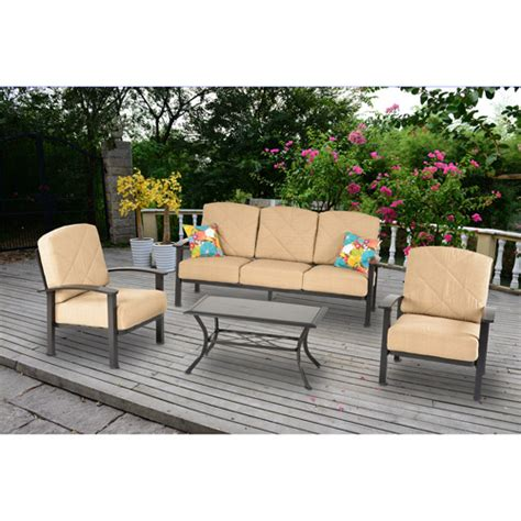 mainstays greeley square 4 patio conversation set