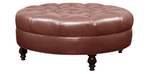 round tufted leather ottoman tufted round ottoman leather upholstery club furniture