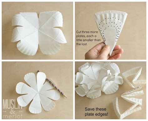 paper plate flower tutorial craft with