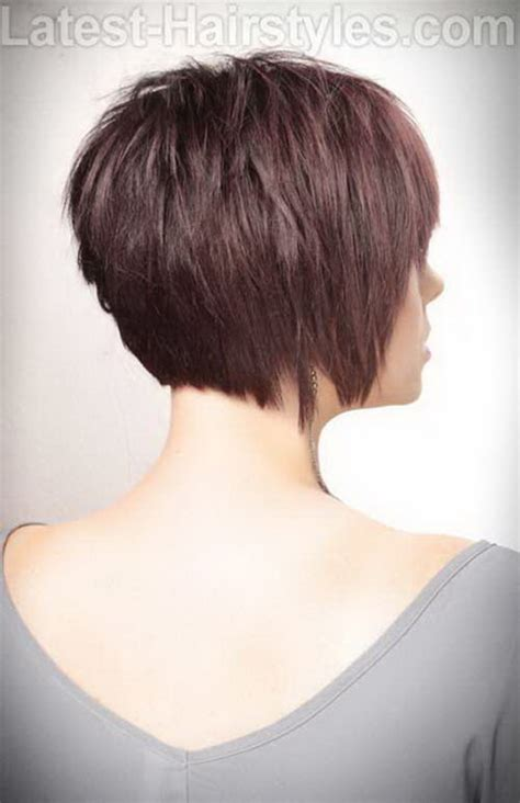 haircut pixie on top long in back long pixie cut back view