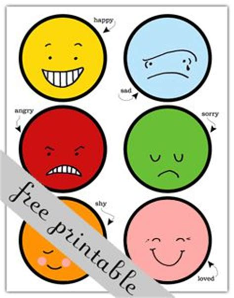 kids emotion faces found on missiekrissie blogspot it free printable feeling faces the blog page these come