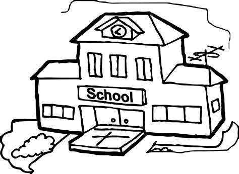 coloring page school building big school building coloring page wecoloringpage