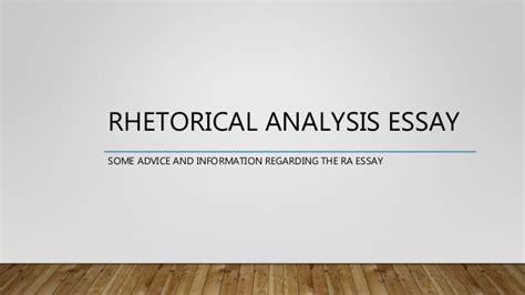 Rhetorical Essay I A by Rhetorical Analysis Essay