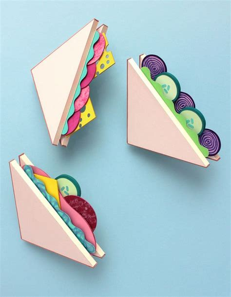 How To Make A Paper Sandwich - paper and cardboard sandwiches would be to make for