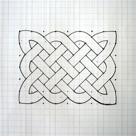 Knot Patterns - how to draw a celtic knot pattern
