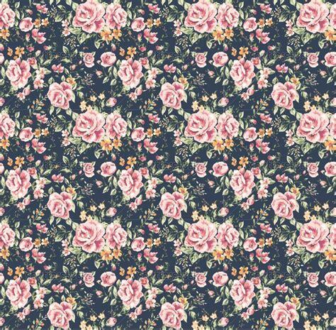 Vintage Flowers Pattern seamless vintage flower pattern on navy background