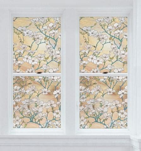 Static Cling Window Film Privacy Stained Glass Decorative Privacy Door Glass Cling