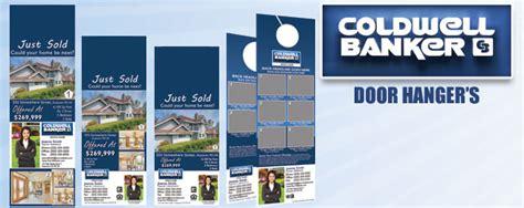 Coldwell Banker Door Hangers Cheap Printing Free Shipping Open House Door Hanger Template