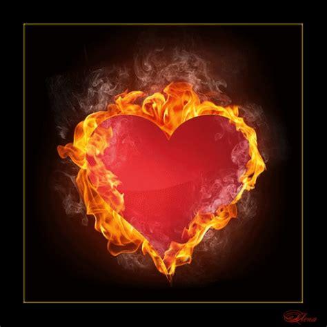 imagenes de love con fuego corazon de fuego animadas con movimiento y te amo