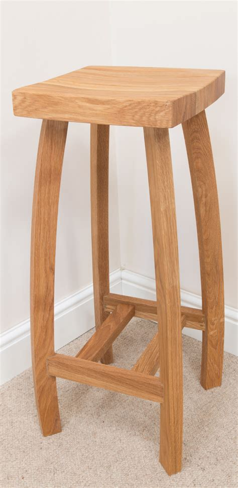 Wooden Breakfast Bar Stool by Bali Bar Stool 085 Solid Oak Timber Seat Bar Stools