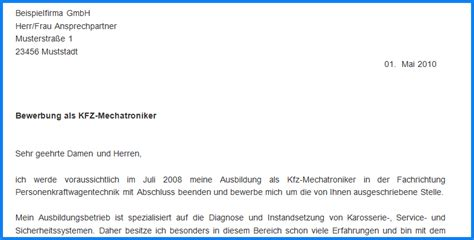 Bewerbung Deckblatt Kfz Mechatroniker 4 Bewerbung Als Kfz Mechatroniker Invitation Templated