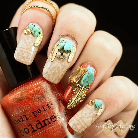 nails with pattern tribal tuesday nail art with nail pattern boldness