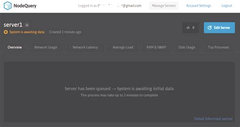 Monitor Untuk Server menggunakan nodequery untuk monitoring performa server