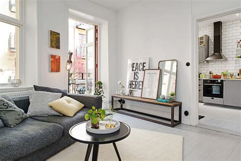 scandinavian one room studio apartment in gothenburg