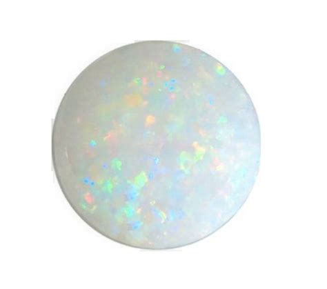 opal color opal white flashes of colour 4mm cabochon