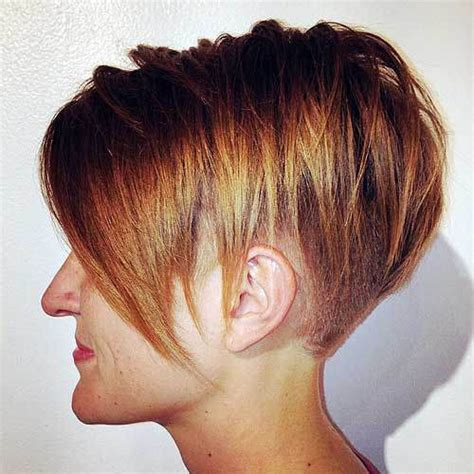 short layered hairstyles with short at nape of neck extreme undercut bob haircuts