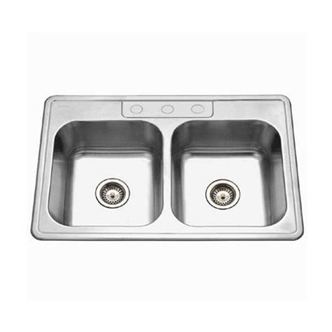 Ada Compliant Kitchen Sinks Glowtone Ada Compliant Series Stainless Steel Topmount Kitchen 50 50 Bowl Sink 33 Wide
