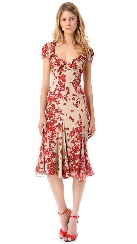print sleeve dress lyst zac posen sleeve print dress