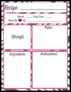 free printable recipe page template mesa s place page recipe templates free printables