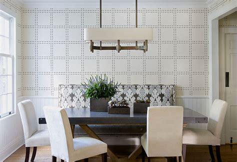 Dining Room Fabric Bench Dining Room Wallpaper Design Ideas