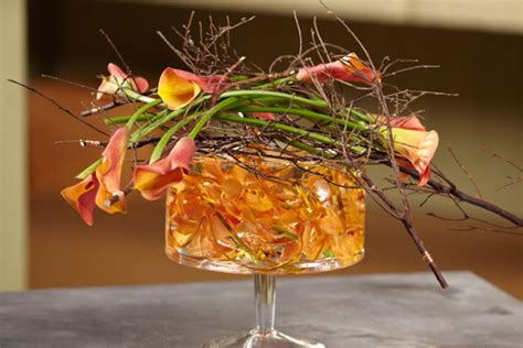 how to create a submerged flower and wire arrangement
