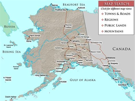 Birth Records Alaska Map Of Towns And Cities In Alaska Contact 907 750 4065 J Endres