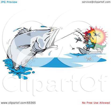 barramundi tattoo designs royalty free rf clipart illustration of a reeling in