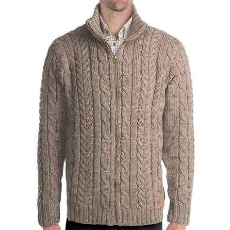 Sale Sweater Jg peregrine by j g chunky cable sweater merino wool zip for in mountain cheviot