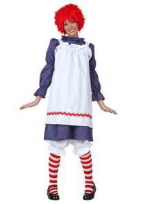 raggedy costume plus size classic rag doll costume