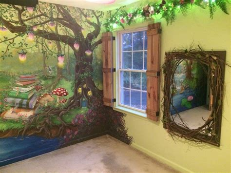 bedroom murals enchanted forest bedroom mural board and batten