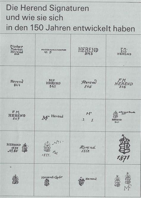 Porzellanmarken Krone W by Herender Porzellan Manufaktur 1826 Als Keramikfabrik