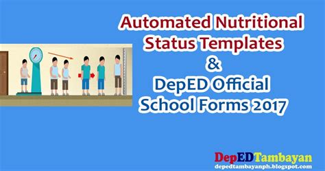 template of nutritional status bulletin automated nutritional status templates deped