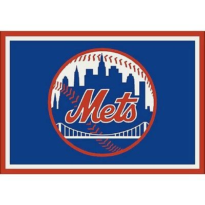 Images Of Area Rugs New York Mets Team Logo Area Rug Mlb Area Rugs Pinterest