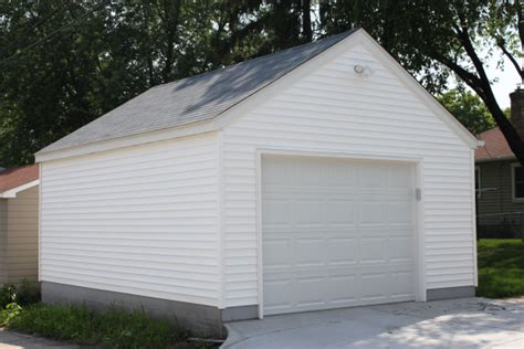 size of one car garage garage builders mn garage sizes western construction inc