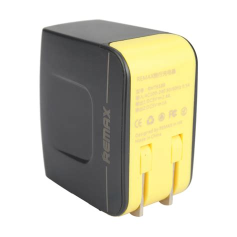 Mg Remax Travel Adapter With 2 Usb Port Rs X1 Murah remax 3 4a dual usb port universal travel charger adapter
