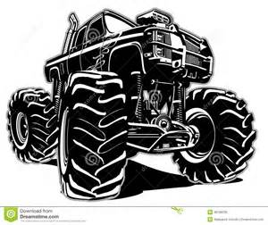 cartoon monster truck stock vector image 40798156