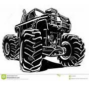 Monster Truck Dos Desenhos Animados Ilustra&231&227o Do Vetor  Imagem
