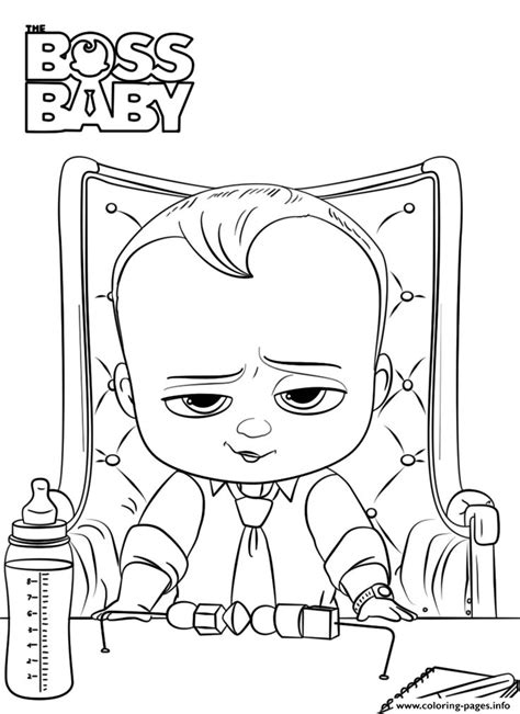 Print boss baby 2 like a boss president coloring pages