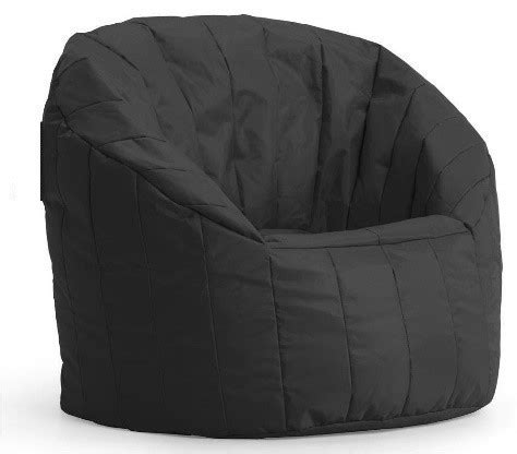 structured bean bag chair structured bean bag black for rent in nyc partyrentals us