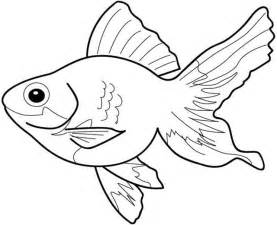 colouring fish clipart