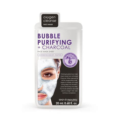 Diskon Charcoal Oxygen Mask Masker skin republic purifying charcoal mask sheet 20ml buy in south africa